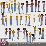 34 Teen Pronoun Clip Art Beginner Grammar & ESL Resources - Grammar Clipart