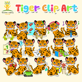 34 Tiger clip art (clipart) images in educational settings
