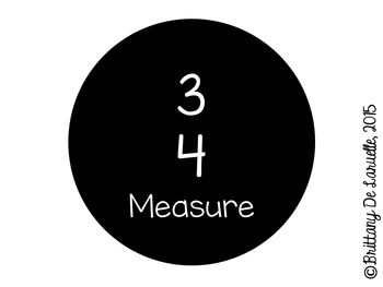 3/4 Time - Music Pies - Time Signature Manipulative