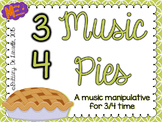 3/4 Time - Music Pies - Time Signature Manipulative