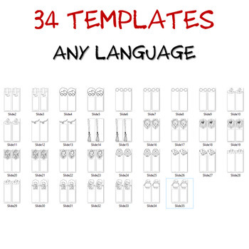 34 blank BOOKMARK for your Harry Potter fans - Any language