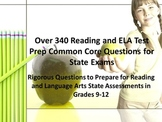 340 High School Reading and ELA Test Prep Common Core Questions for State Exams