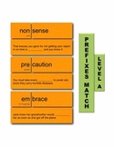 Prefixes A Match Manipulatives & Task Cards