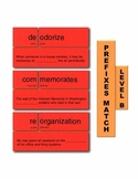 Prefixes B Match Manipulatives & Task Cards
