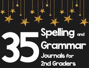 35 2nd Grade Spelling/Grammar Journals - Common Core Aligned Writing Practice