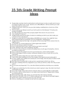 35 5th Grade Writing Prompts