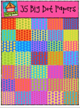 35 Big Dot Digital Papers {P4 Clips Trioriginals Digital Clip Art}
