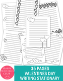 35 Black and White Valentine's Day Writing Paper Template-