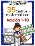 35 Centros de aprendizaje de matemáticas para practicar sumas del 1 a 10