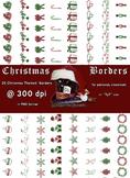 35 Christmas Themed Digital Borders