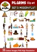 35 Clip Art Images American Pilgrim History SET 3:  for commercial use