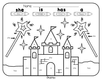 35 Color by Sight Word Pages {Pre-Primer & Primer}