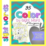 Color by Sight Word Pages 35 Seasonal Themes {Pre-Primer &
