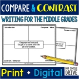 35 Compare & Contrast Writing Prompts for the Middle Grades (With Organizers)