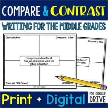35 Compare & Contrast Writing Prompts for the Middle Grade