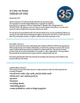 35 Corks Art Studio Terms of Use - May 2017