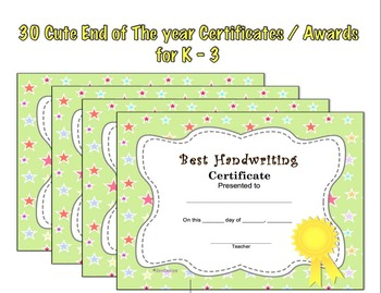 End of the Year Awards Superlatives 30 Cute Fillable Edita