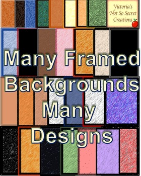 70 FRAMED Backgrounds PNG format Many COLORS Many DESIGNS