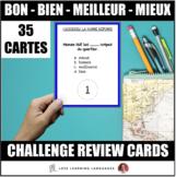 35 French task cards - BON - BIEN - MEILLEUR - MIEUX
