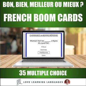 35 BOOM cards - BON - BIEN - MEILLEUR - MIEUX