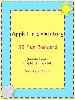 35 Fun and Colorful Border Pack by Apples in Elementary
