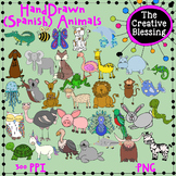 35 Alphabet Animals Clip Art ( English and Spanish Animals)