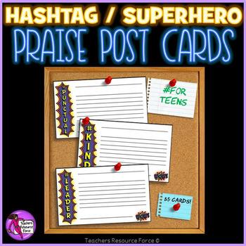 Superhero Praise Cards Rewards