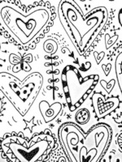"35 Heart Doodles ""Inspiration Resource Sheet"" for Valentine's Day Art Projects!"