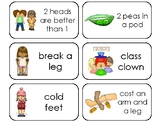 35 Idioms Picture and Word Printable Flashcards. Preschool