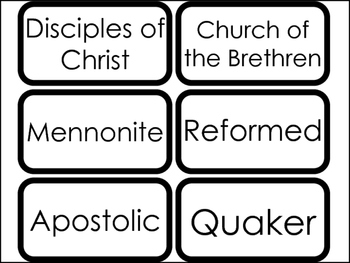 35 Largest Christian Denominations in the United States Flashcards. Bible Study