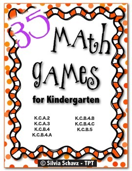 35 Math Learning Centers for the Beginning of Kindergarten - CCSS Aligned