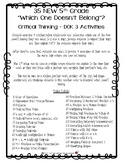 """35 NEW 5th Grade """"Which One Doesn't Belong?"""" Critical Thinking/DOK 3"""