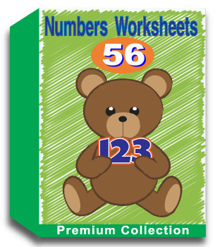 Numbers Worksheets for Kindergarten (50 Worksheets)