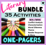 35 One Pagers Short Story - Fiction Bundle - Digital & Printable