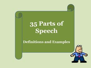 35 Parts of Speech PDF Slideshow