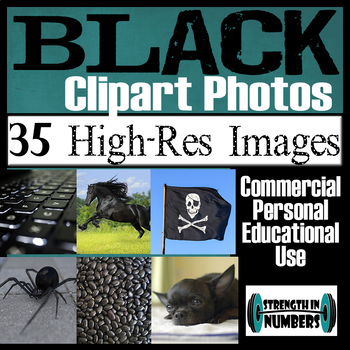 35 Photos BLACK Objects Commercial Clip Art High Res Photographs