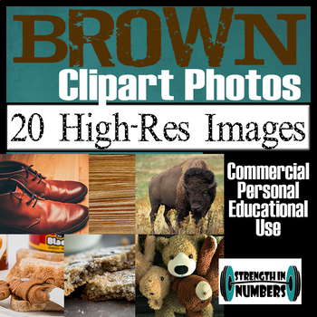 35 Photos BROWN Objects Commercial Clip Art High Res Photographs