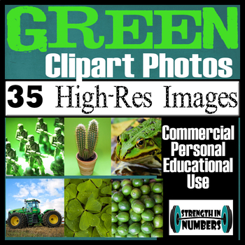 35 Photos GREEN Objects Commercial Clip Art High Res Photographs