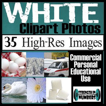 35 Photos WHITE Objects Commercial Clip Art High Res Photographs