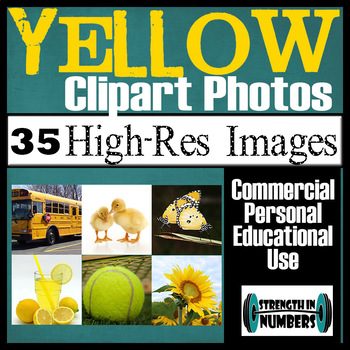 35 Photos YELLOW Objects Commercial Clip Art High Res Photographs