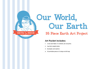 35 Piece Earth Day Art Project