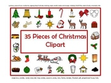 35 Pieces of Christmas Clip Art - Large
