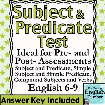 Subject and Predicate Test