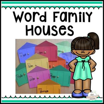 35 Short Vowel Word Family Houses