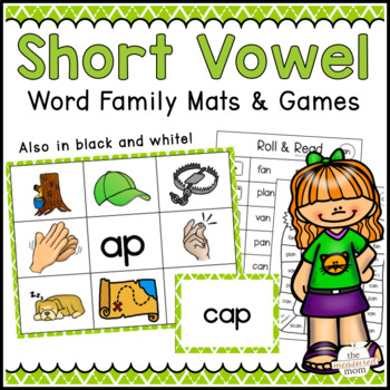 35 Short Vowel Word Family Mats