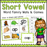 Short Vowel Word Family Mats & Games