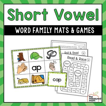 Short Vowel Word Family Mats & Games