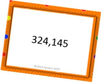 35 TASK CARDS NUMBER SENSE 6 DIGIT WORD TO STANDARD FORM