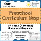 35 Week Curriculum Map for 3 year old Preschool