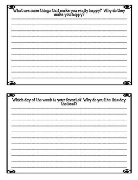 35 Weekly Journal Prompts